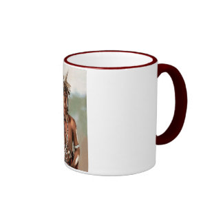Snake Priest 1902 Ringer Coffee Mug