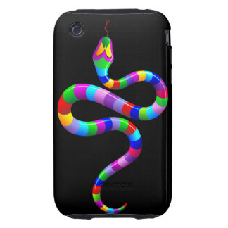 Snake Psychedelic Rainbow iPhone 3G/3GS Case-Mate iPhone 3 Tough Cover