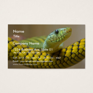 Snake Reptile Business Card