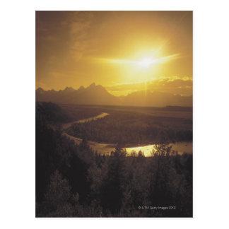 Snake river plain , Wyoming Postcard