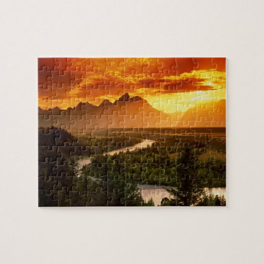 Snake River Sunset Jigsaw Puzzle