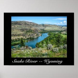 Snake River Wyoming -- Art poster