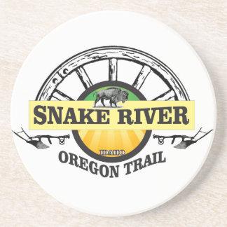 snake river yellow art coaster