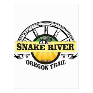 snake river yellow art postcard