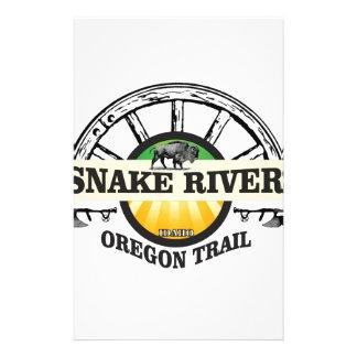 snake river yellow art stationery