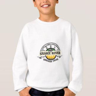 snake river yellow art sweatshirt