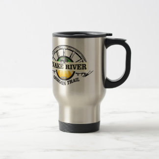 snake river yellow art travel mug