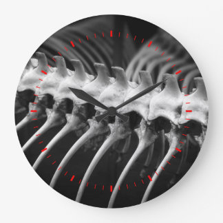 Snake Skeleton Archaeologist Bones Wall Clock