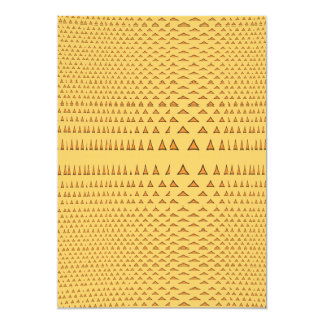 Snake Skin Orange Aztec Triangle Pattern Gifts Personalized Invite