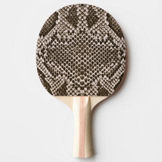 Snake skin ping pong paddle