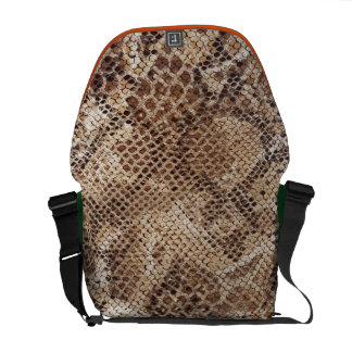 Snake Skin Print Commuter Bag