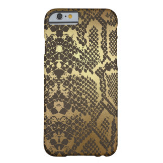 Snake Skin Print Modern Glam Gold Barely There iPhone 6 Case