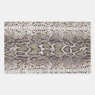 Snake Skin Rectangular Stickers