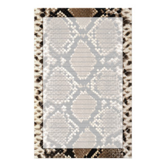 Snake Skin Stationery Design