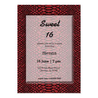 Snake Skins 13 Cm X 18 Cm Invitation Card