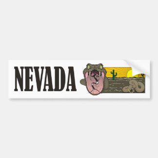 Snake State of Nevada USA: Rattlesnake and desert Bumper Sticker
