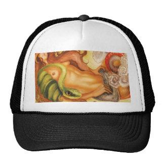 Snake tattoo girl cap