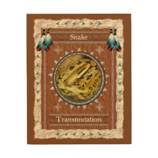 Snake  -Transmutation- Wood Canvas