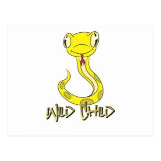 Snake WC yellow Postcard