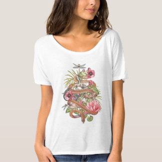 Snake with flowers T-Shirt