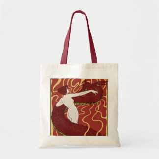 Snake & Woman Tote Bag
