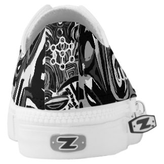 Snakers Black & White Printed Shoes