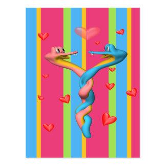 Snakes in Love Postcard