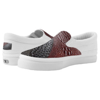 Snakeskin texture printed shoes