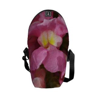 Snapdragon Pink Flower Mini Messenger Bag