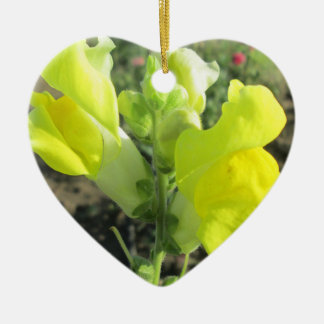 Snapdragon Yellow Flower Christmas Ornament