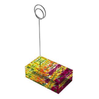 Snapdragons Colorful Floral Place Card Holder