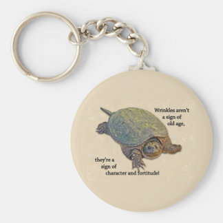 Snapping Turtle Wrinkled Old Age Wisdom Key Ring