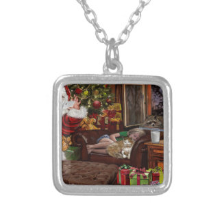 Snappy Santa Silver Plated Necklace