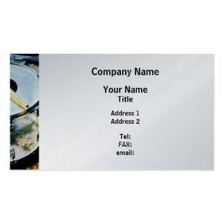Snare Drum - Platinum Finish Business Card Template