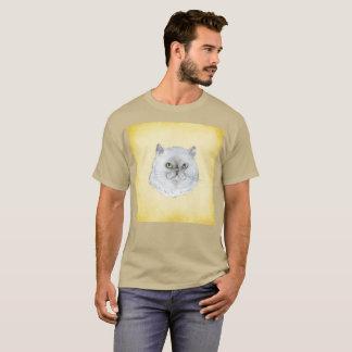 Snarky Cat Furball Smirk Watercolor Rare T-Shirt