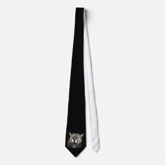 Snarling Cougar Tie