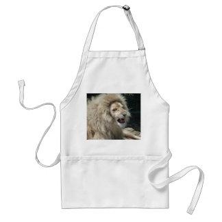 Snarling White Lion Standard Apron