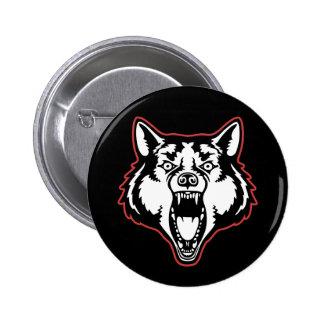 Snarling Wolf 6 Cm Round Badge