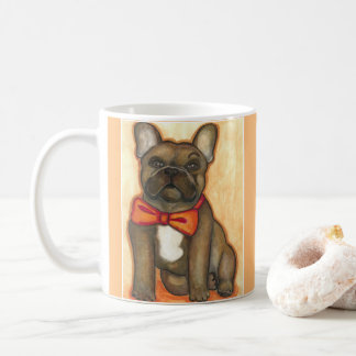 Snazzy brindle French Bulldog mug