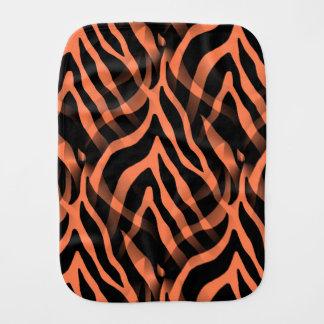 Snazzy Coral Zebra Stripes Print Burp Cloths