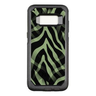 Snazzy Sage Green Zebra Stripes OtterBox Commuter Samsung Galaxy S8 Case