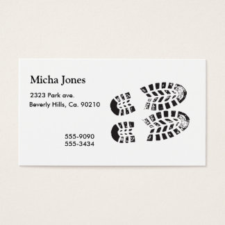 Sneakers Black & White Imprint Business Card
