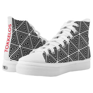 Sneakers: Black White Printed Shoes