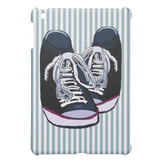 Sneakers Blue White Stripes iPad Mini Cover