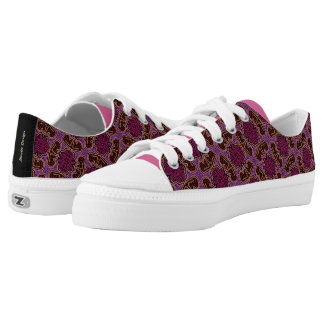 Sneakers Jimette Design pink red and black