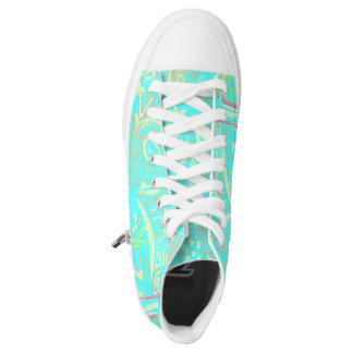 Sneakers of Turquoise design