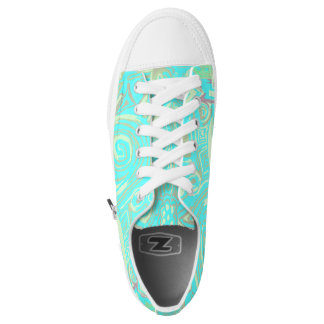 Sneakers of Turquoise design low top
