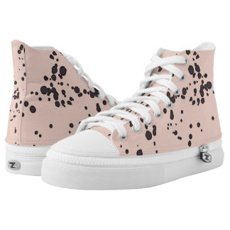 Sneakers: Pink Dalmation Printed Shoes