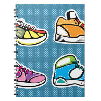 Sneakers pop art vector notebooks