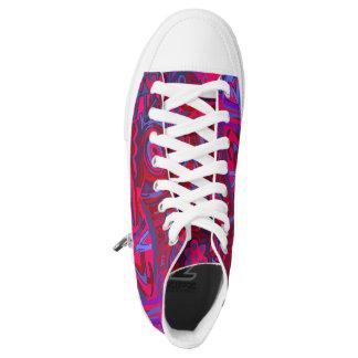 Sneakers. Sneakers hight blue Magenta top